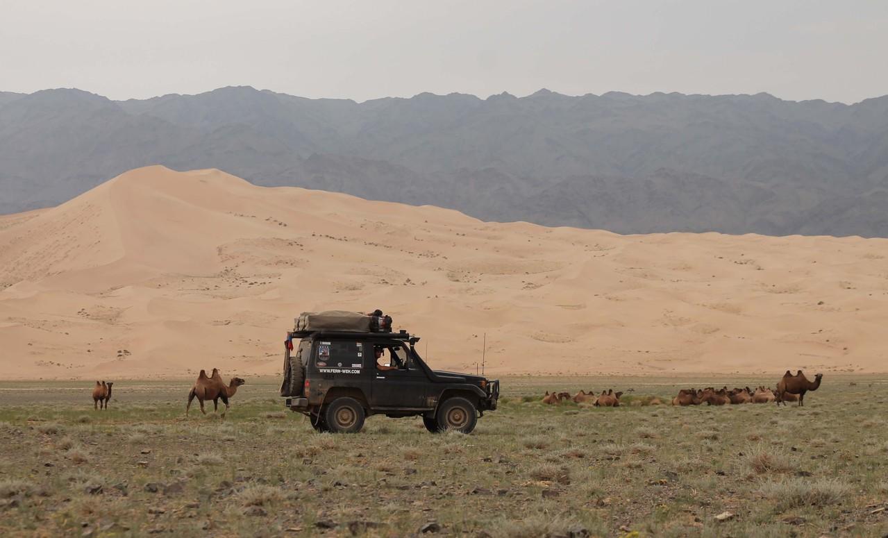 Singing sand dunes, Mongolia
