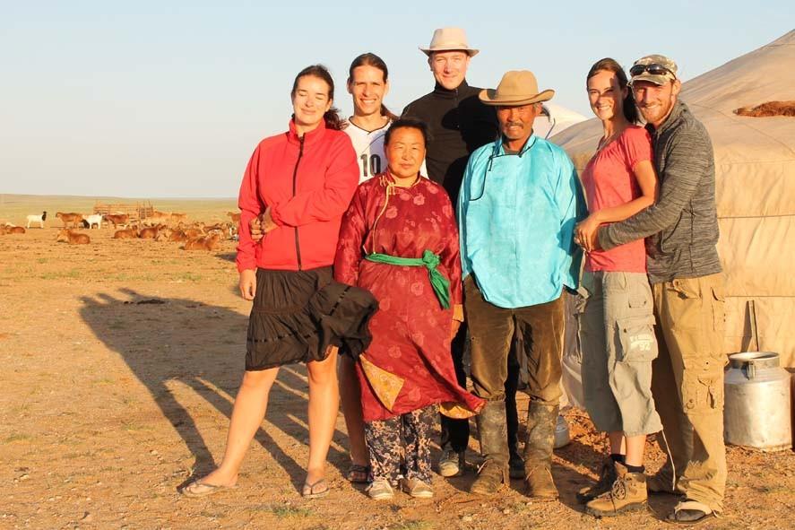 Host family in Mongolia