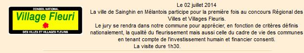 Actualité du site Web de Sainghin-en-Mélantois