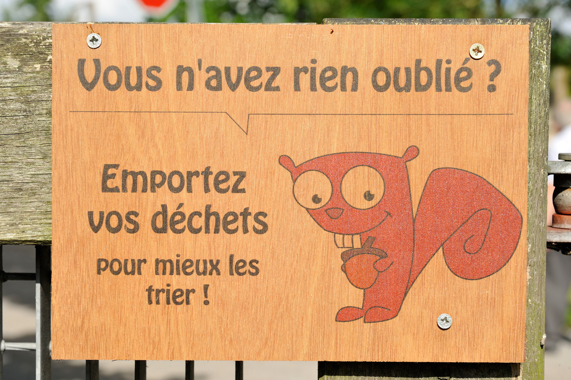 Panneau de sensibilisation à  Libercourt par Richard Soberka