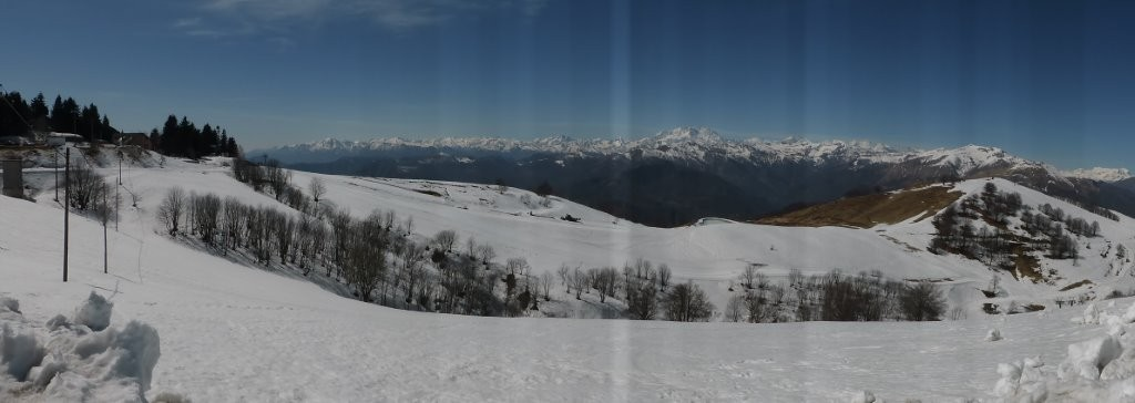 noch winterliche Stimmung am Monte Mottarone