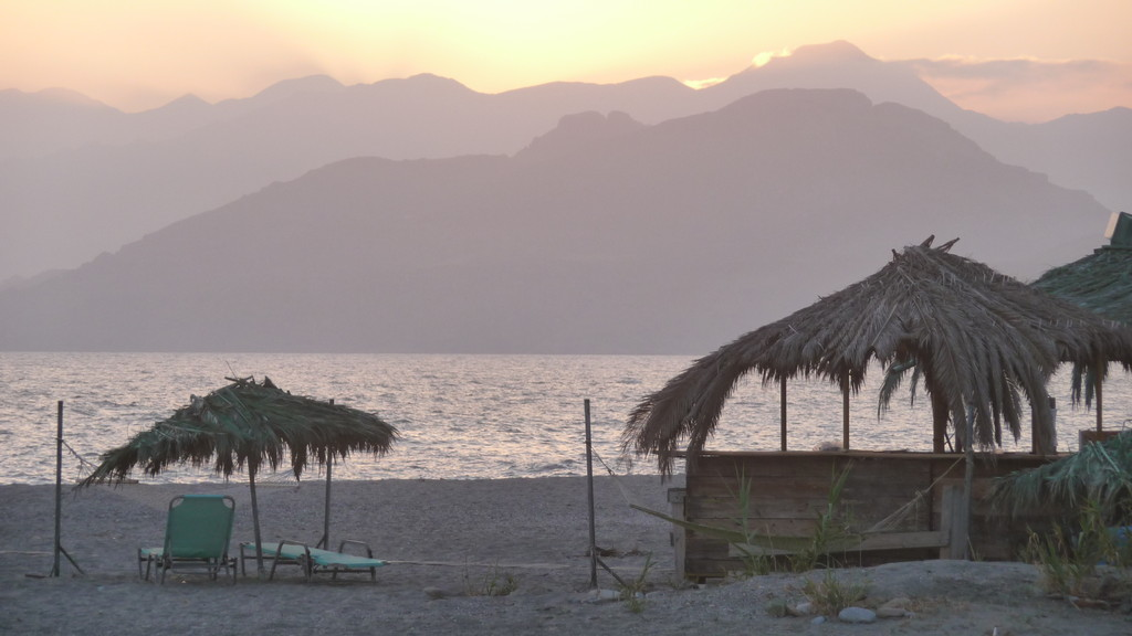 Abendstimmung am Strand von Triopetra