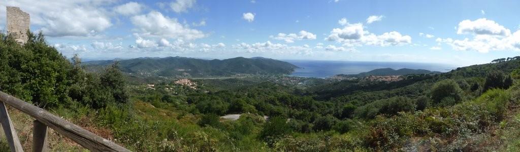 Blick auf die Bucht von Marina di Campo