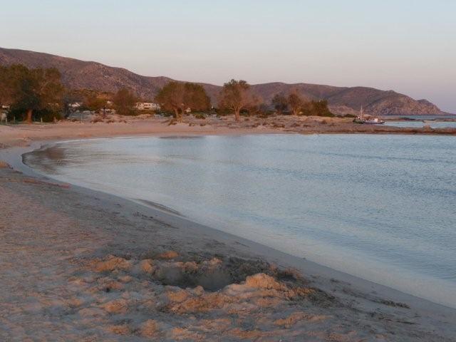 am Strand von Elafonisi