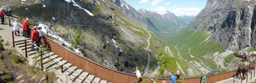 Blick auf die Trollstigen-Straße