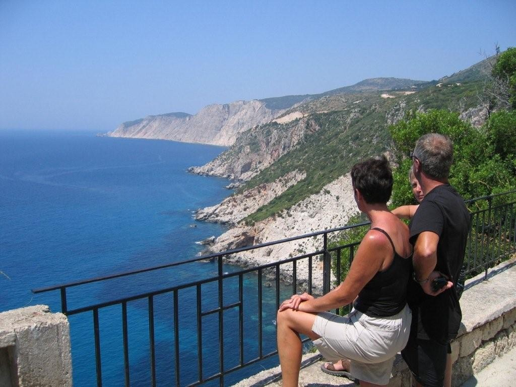 tolle Aussicht vom Kloster Kipoureon - Kefalonia