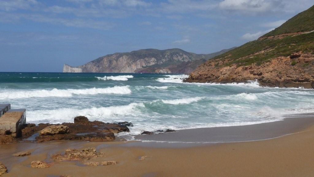 am Strand von Fontanamare