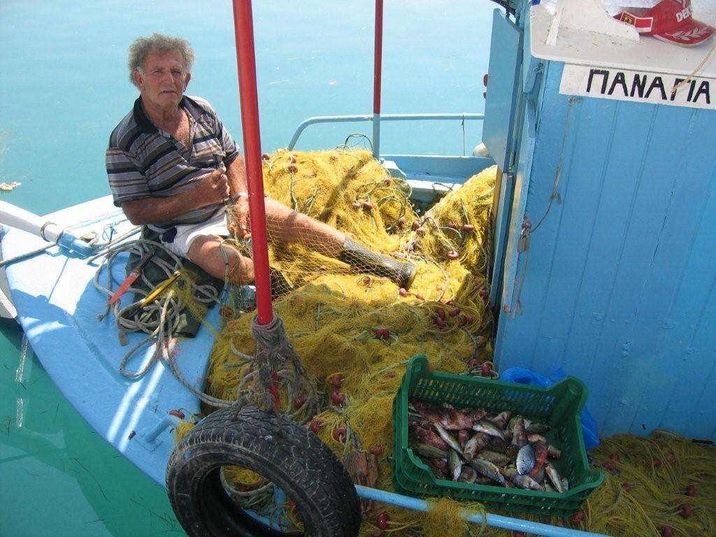 Fischer im Hafen von Argostoli