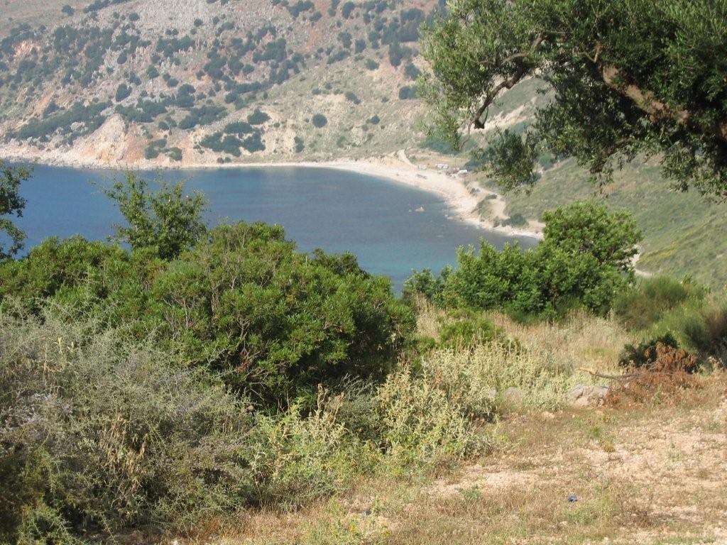 Blick auf die Bucht von Kiriakis