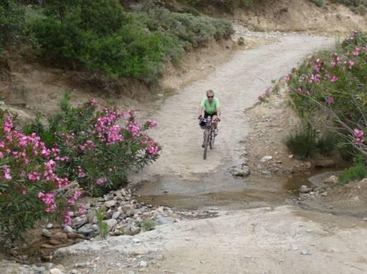 biken an der Südküste von Kreta