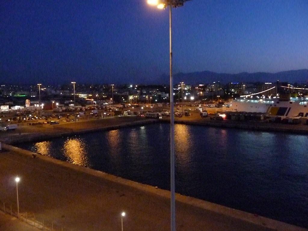 Abendstimmung im Hafen von Heraklion
