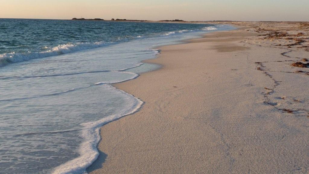 am Reiskörner-Strand auf Sinis