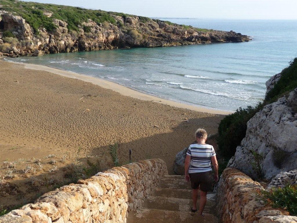 am Strand von Calamosche