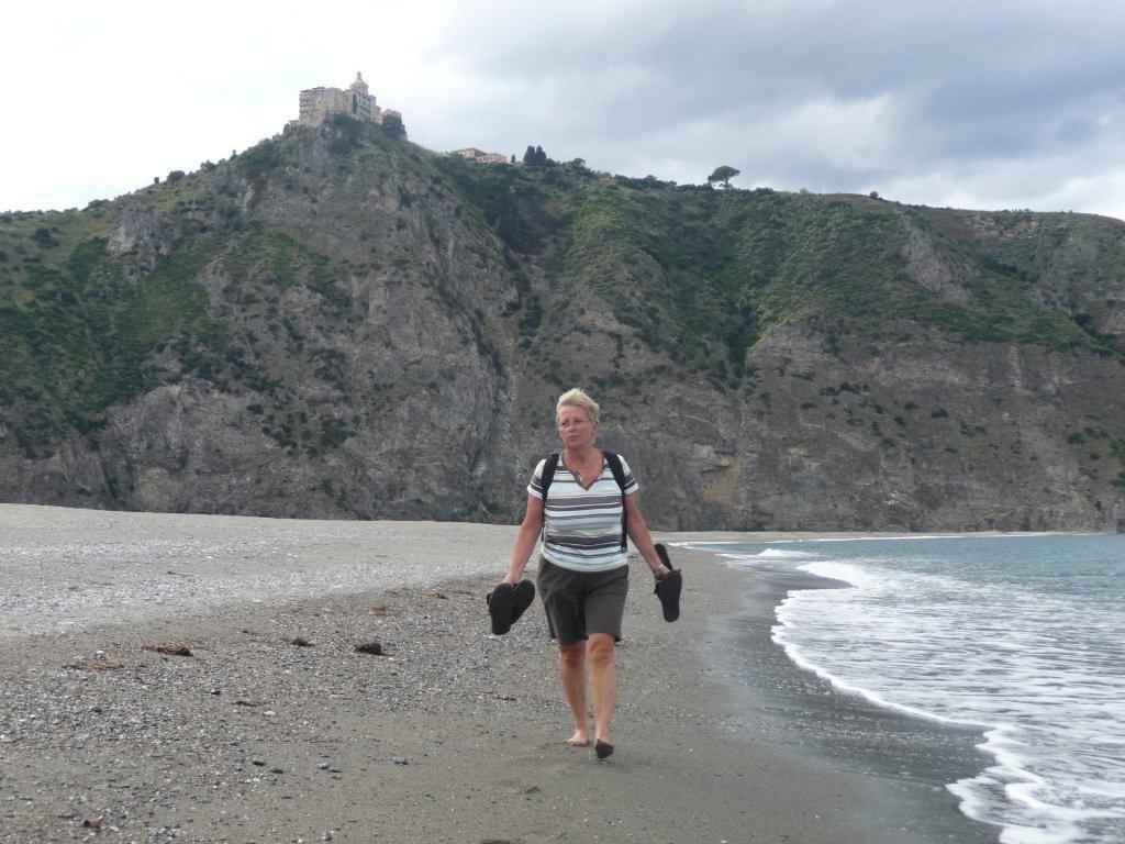 Spaziergang am Lagunenstrand Nähe CP Marinello