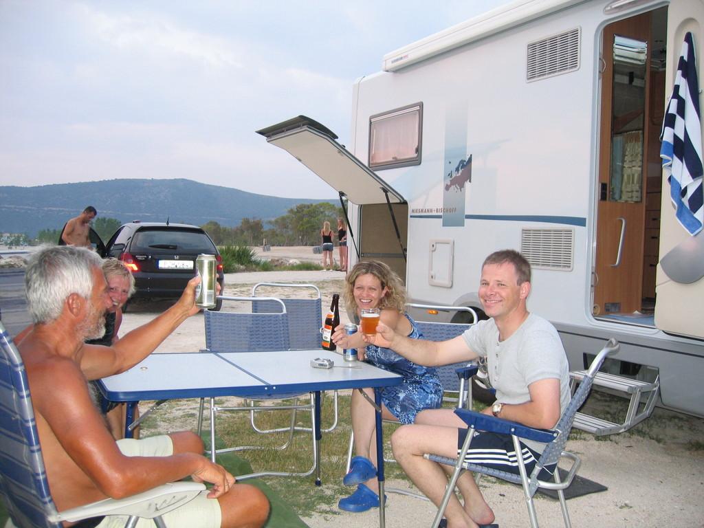 Urlaubsabschluss mit unseren österreichischen Freunden am Amoudia-Beach
