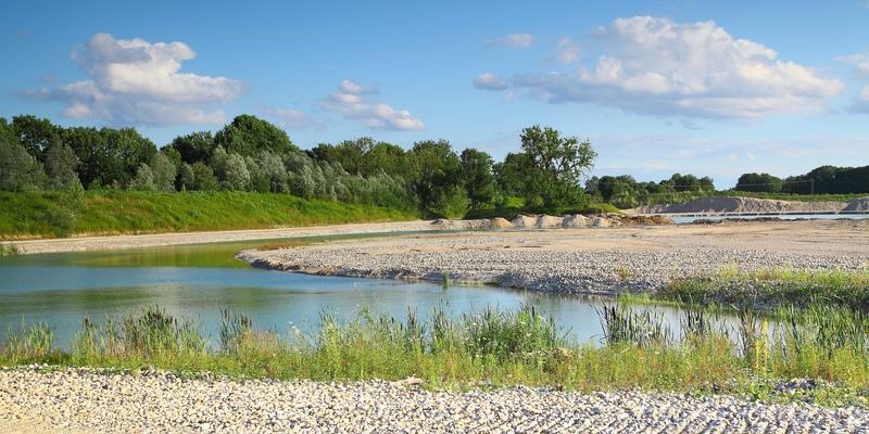 Aktuelles Abbaugebiet - teilweise renaturiert