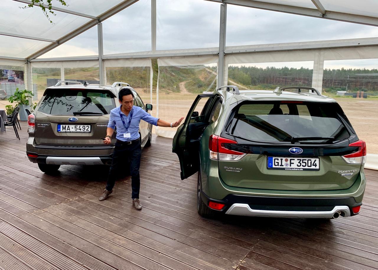 Die Subaru-Ingenieure haben den Elektromotor des Hybrid-Systems in die Lineartronic integriert und die Batterie hinten zentral eingebaut. Damit bleibt die Stabilität unverändert.