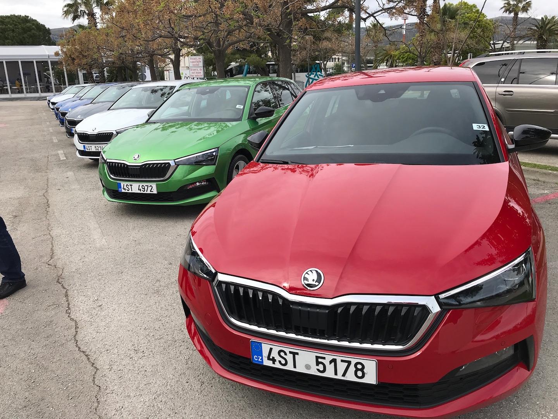 Der Škoda Scala bietet eine breite Auswahl  bei den Farben.