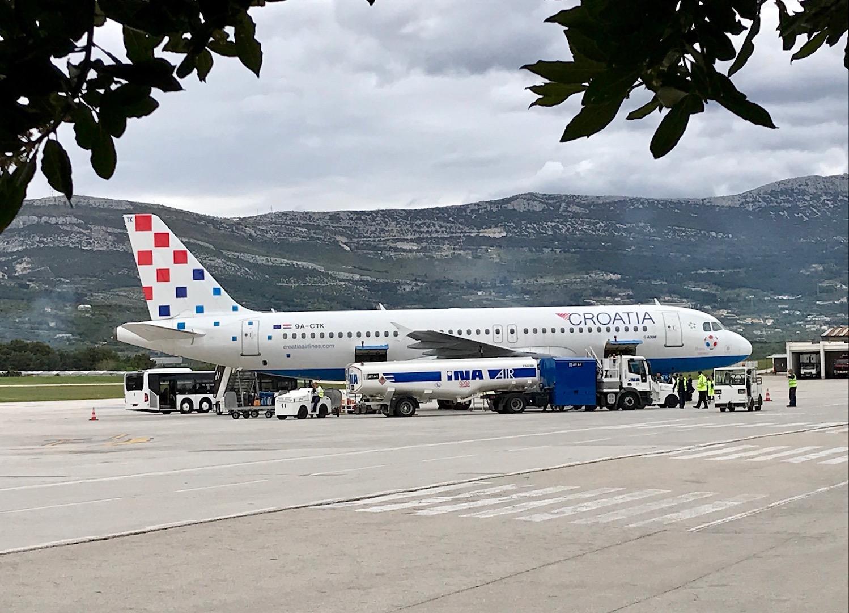 Air Croatia hat uns sicher und bequem nach Split geflogen.