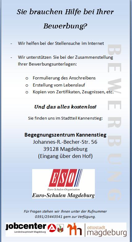 Bewerbungshilfe Im Begegnungszentrum Kannenstieg Kannenstiegnet