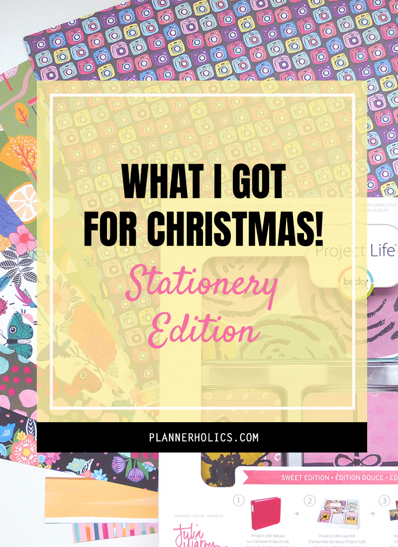 What I got for Christmas 2019 - Stationery Edition