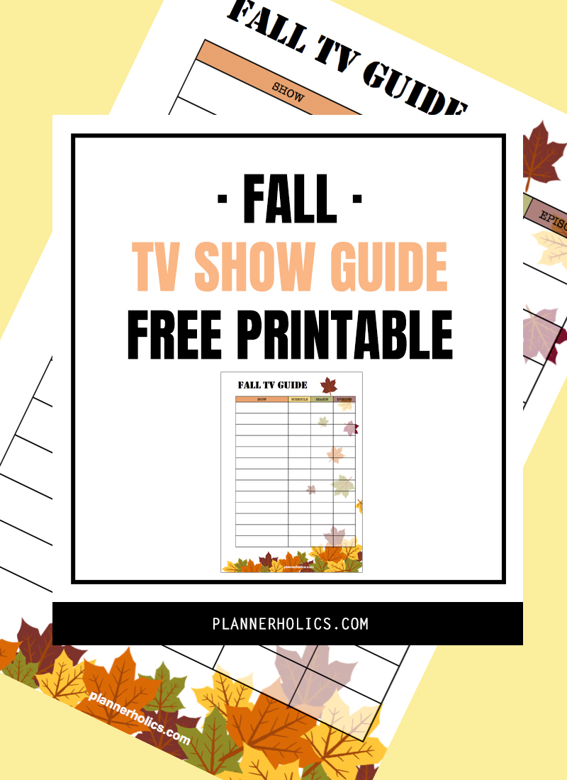 Fall TV show free printable tracker to stay in tune with all your favorite shows!