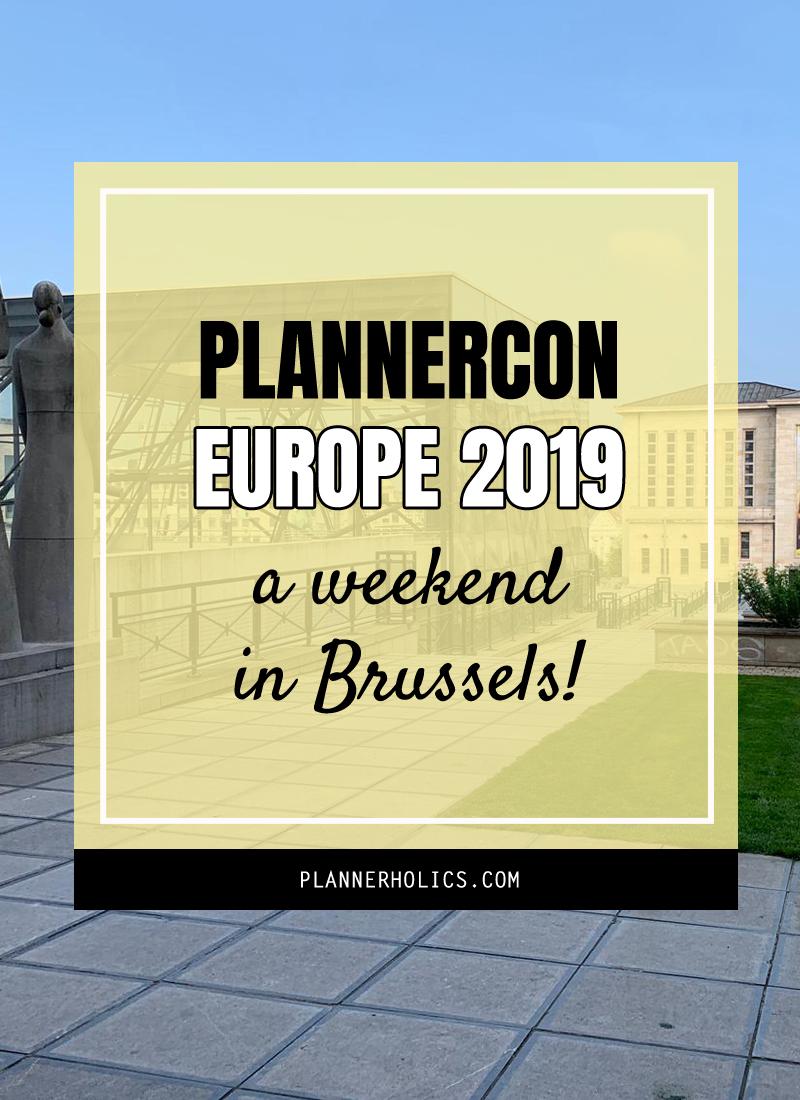 Plannercon Europe 2019 in Brussels Belgium
