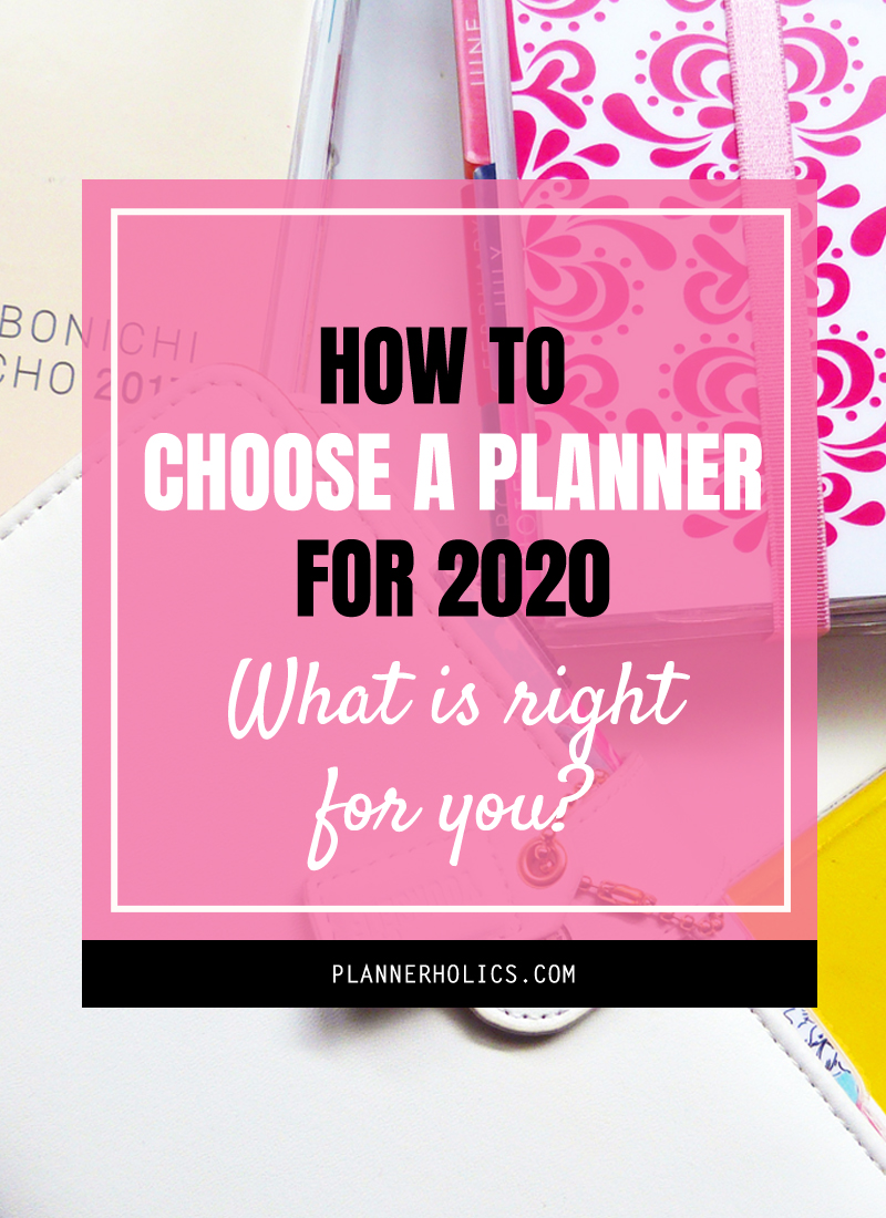 How to choose a planner for 2020 - What is right for you?