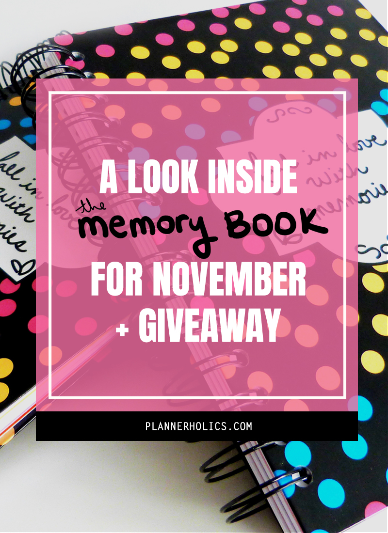 Flip through inside my The Memory Book for the month of November