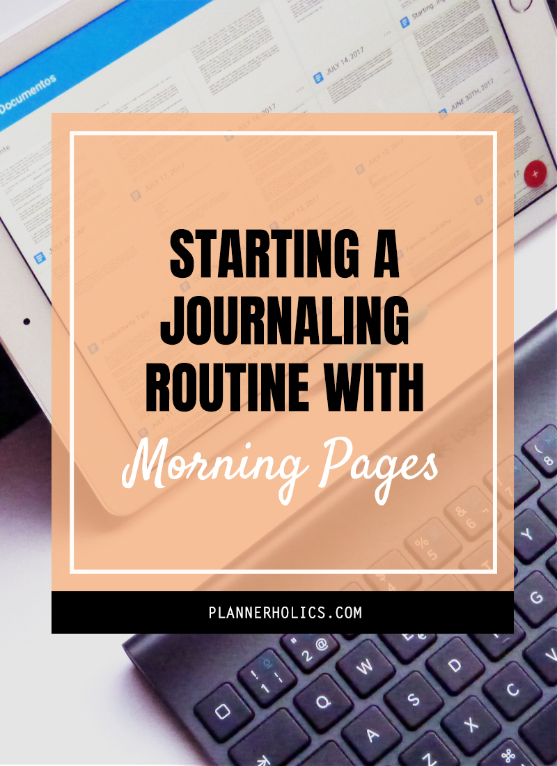 journaling routine morning pages