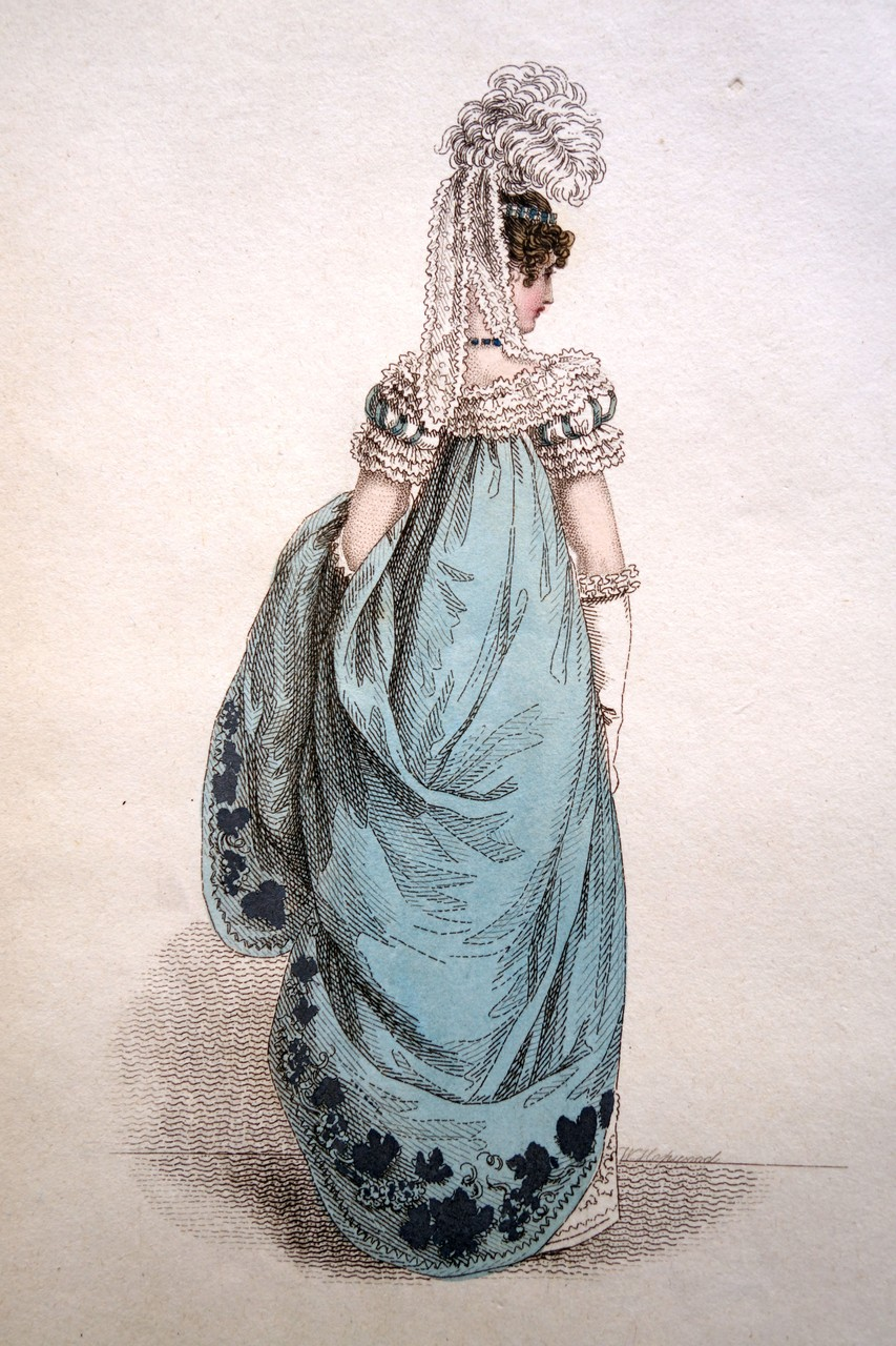 Französisches Hofkleid, La Belle Assemblee, 1817