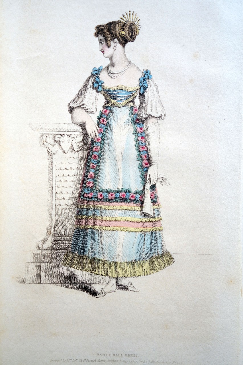 Fancy Ball Dress, La Belle Assemblee, c. 1820