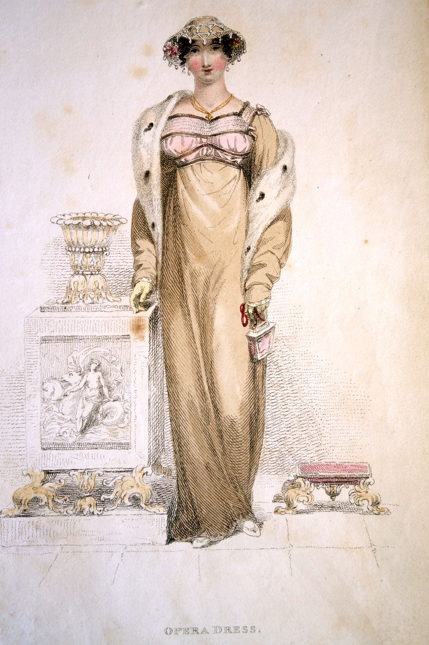 Opera Dress, Ackermann's Repository, 1817