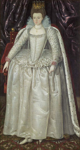 Elizabeth Vernon, Countess of Southampton, c. 1603 (flickr, picture by Lisby) Elizabethan shoes fashion