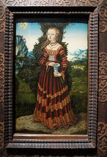 "Saint Mary Magdalene by Lucas Cranach wearing ""Saxon Gown"" Renaissance Fashion"