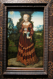 "Saint Mary Magdalene by Lucas Cranach wearing ""Saxon Gown"" Renaissance Fashion"