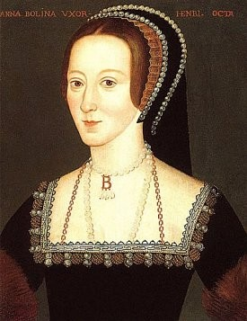 Anne Boleyn wearing a FRENCH HOOD decorated with pearls (flickr, picture by Lisby)