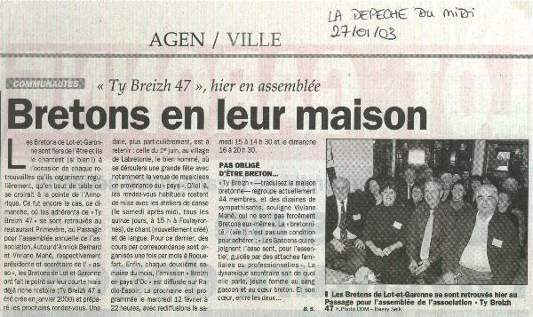 27 janvier 2003