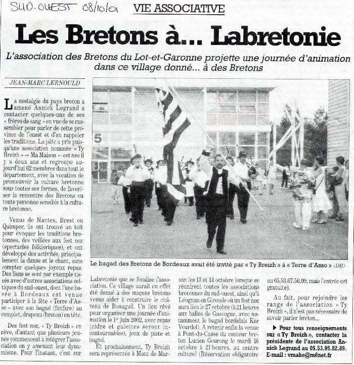 8 octobre 2001
