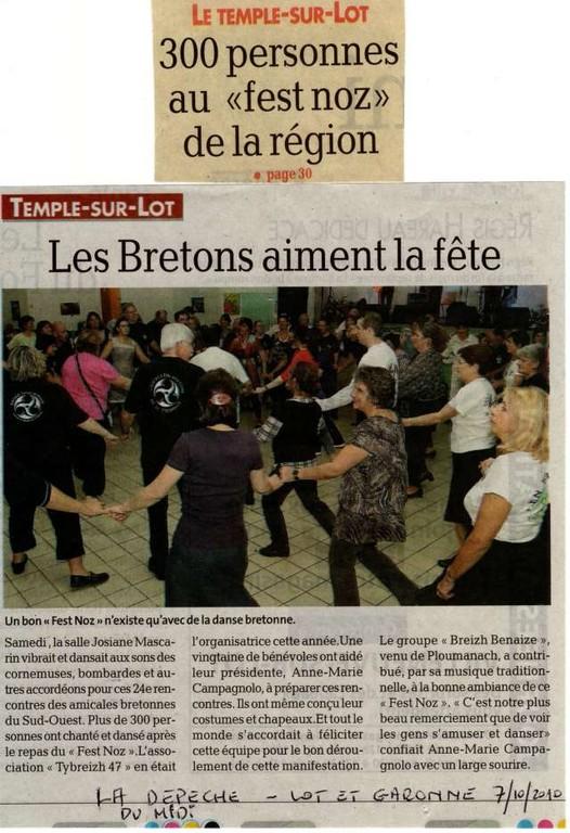 24 èmes RBSO 2010 Le Temple/Lot (La Depêche du Midi)