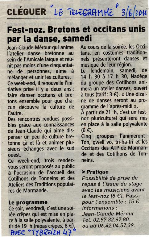 "3 juin 2011   Rencontre Bretons-Gascons avec ""Tybreizh47"""