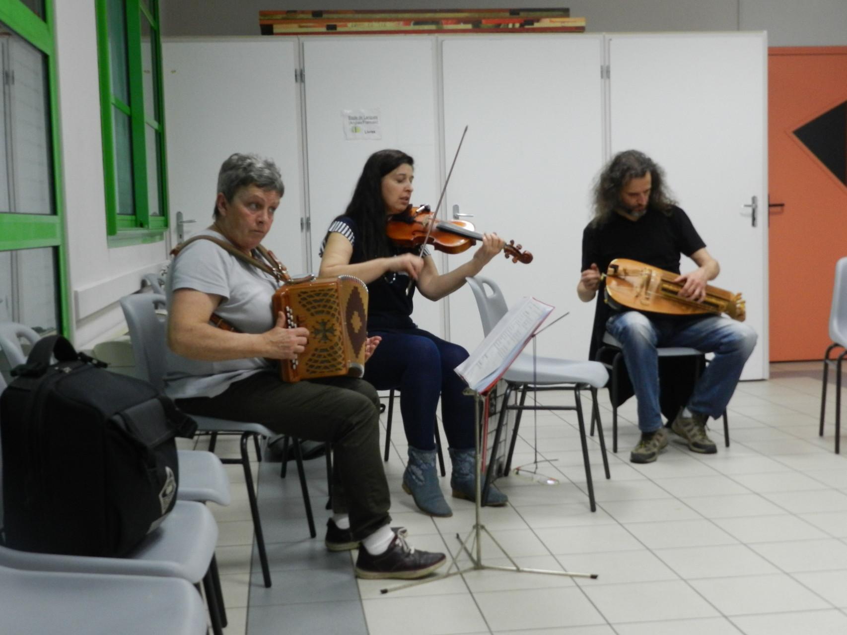 Cathy, Françoise et Philippe