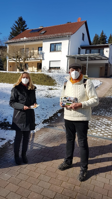 Landratskandidat Andreas Rotzinger in Crumbach unterwegs