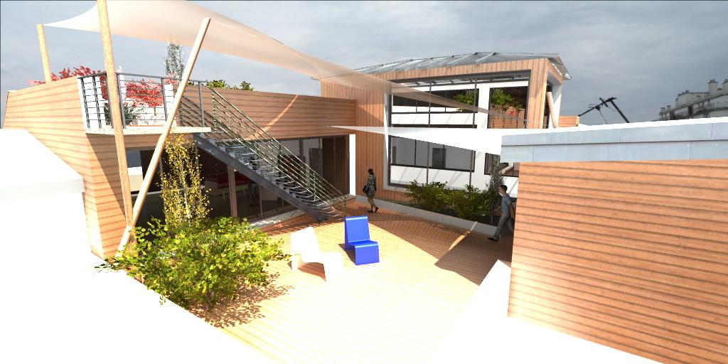 """""""La maison sur le toit"""" , Surélévation du siège de la Fondation Abbé Pierre (BBC)"""