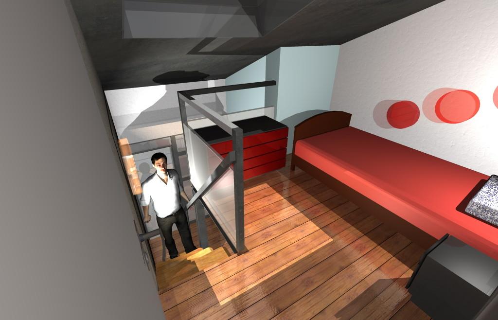 Amenagement intérieur: création de mezzanines sous combles