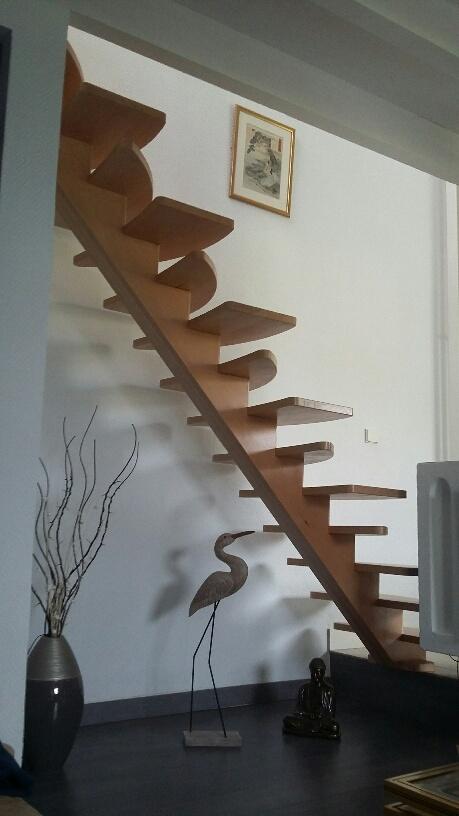 Escalier japonais hêtre