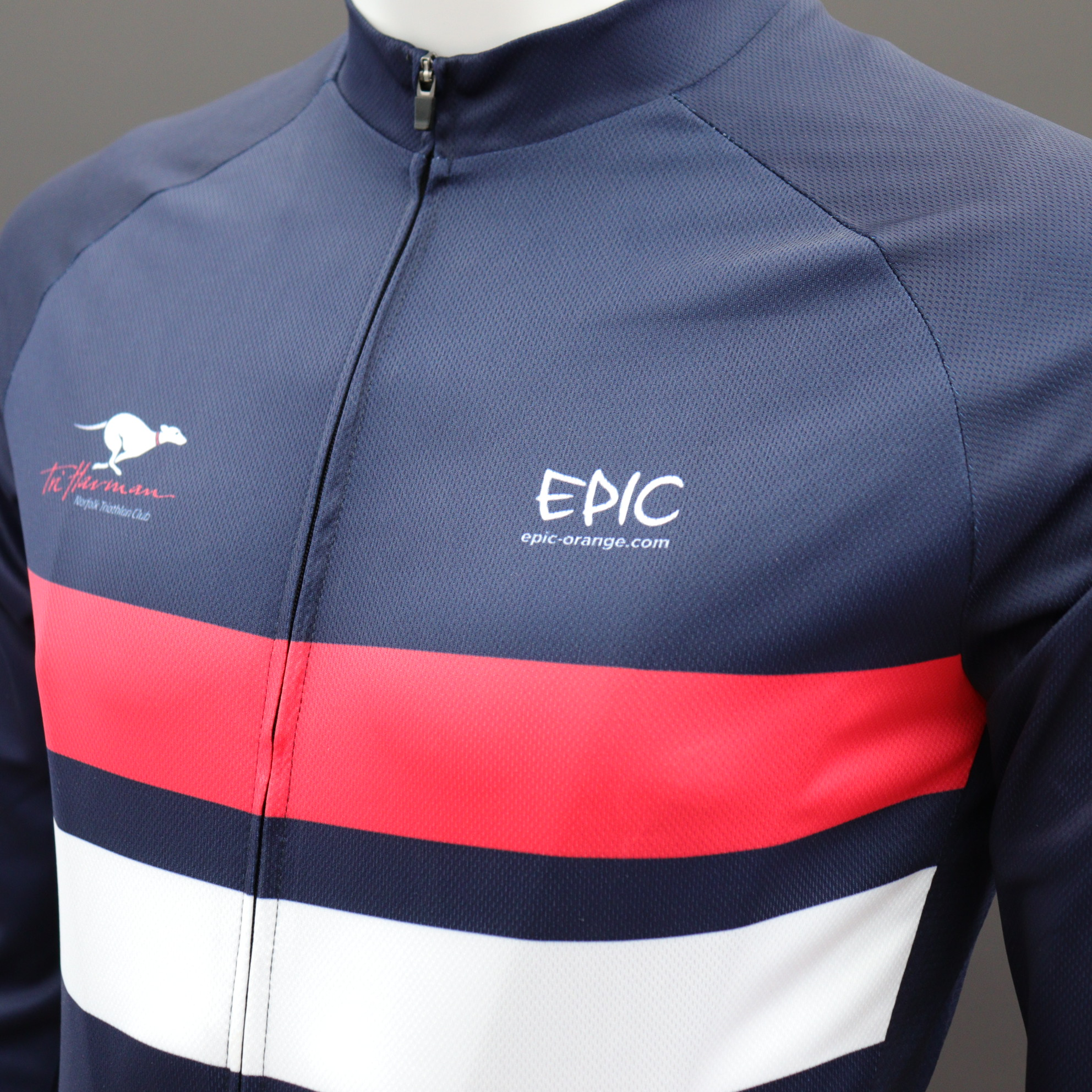 Long Sleeve Classic Cycle Jerseys - Comfort Zip
