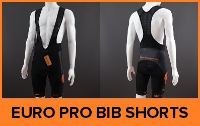 Custom Printed EuroPro WAFFLE Cycle Bib Shorts