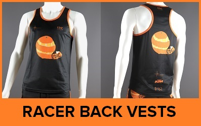 Custom Printed Racer Back Running Vests