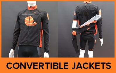 Custom Printed Convertible Cycle Jackets-Gilets